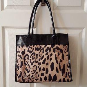 Handbags - Leopard Print Tote Bag